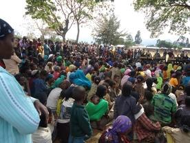 Chrześcijańscy uchodźcy po pogromach dokonanych przez muzułmanów; Jimma, Etiopia